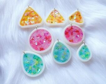 Pastel Glitter Charm Necklace