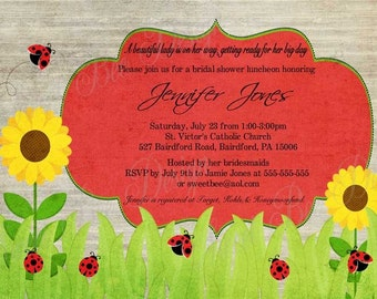 Vintage Lady Bug Invitation