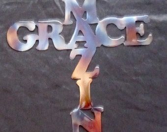 Amazing Grace Metal Cross
