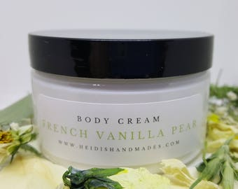 French Vanilla Pear Body Cream - French Vanilla Pear Lotion - French Vanilla Pear Hand and Body Cream