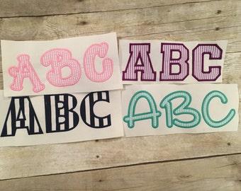 Applique Font Package Deal, Font Applique Package Deal, Embroidery Font Applique Package Deal