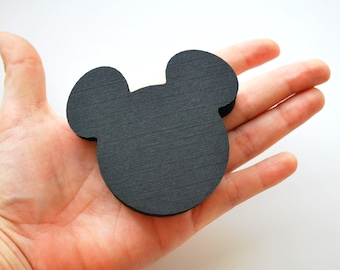 Mickey Die Cuts, Mickey Mouse Die Cut, Mickey Head Die cut, cardstock die cuts, Mickey party cuts, 2.5 INCHES, A383