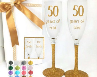 Golden wedding anniversary gifts for couples, anniversary gift for parents, golden anniversary, 50th anniversary gift for parents