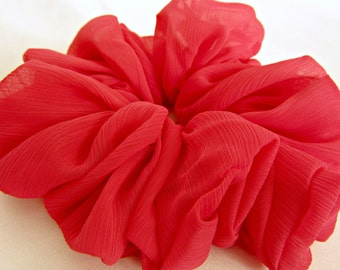 Day Glo Pink Hair Scrunchie - #29