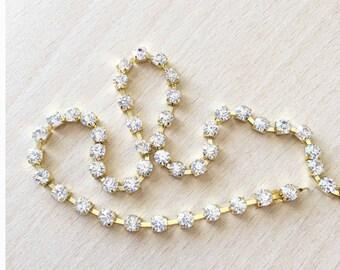 continuous 4 mm rhinestone chain