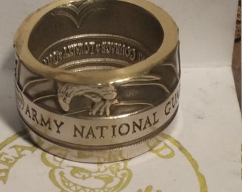 Army National Guard challenge coin ring