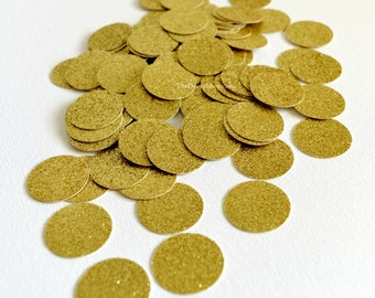 Glitter Confetti - Gold Glitter Circles - Wedding - 50th Anniversary - Birthday  Party Cut Out Glitter Circles - Table Scatter - Confetti