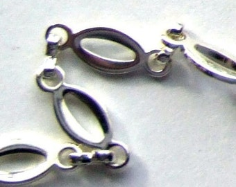 Silver Plated Oval Chain- 3 feet