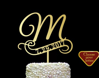 Cake topper for wedding, initials cake topper, wedding cake topper, monogram cake topper, letters cake topper, personalized cake, CT#162