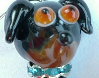 Doxie! Dashaund Lampwork Glass Bead. Free Shipping in the USA!
