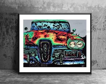 1958 Edsel Classic Car Art Print