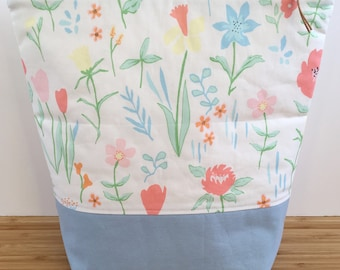 MEDIUM Project Bag | Floral Spring