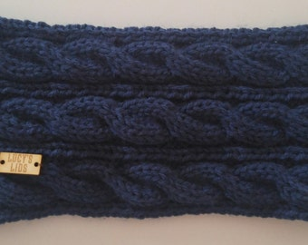 Hand-knit Cable Head Warmer