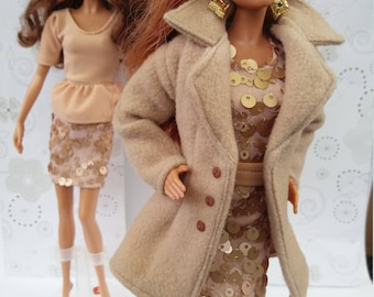 Woolen  coat for Barbie