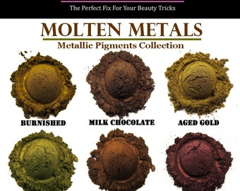 Mineral Eyeshadow-Molten Metals Collection-Get all 6 colors