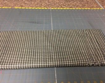 no. 1022 Black mini plaids Fabric by the yard