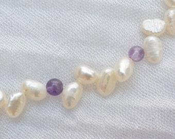 Amethyst & Pearls Necklace
