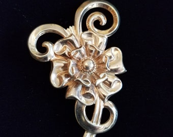 Sterling Silver SB Flower Brooch - Vintage Silverman Bros.  #21