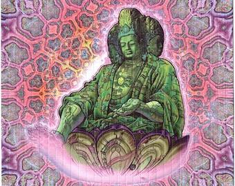 Luke Brown Buddha (Maitraya) blotter art