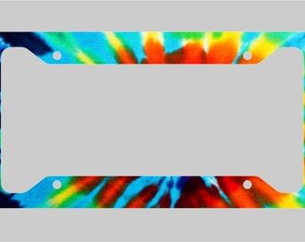 Tie Dye - Print - Canvas- License Plate Frame