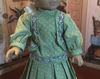Drop waist World War 1 era dress for 18 inch doll