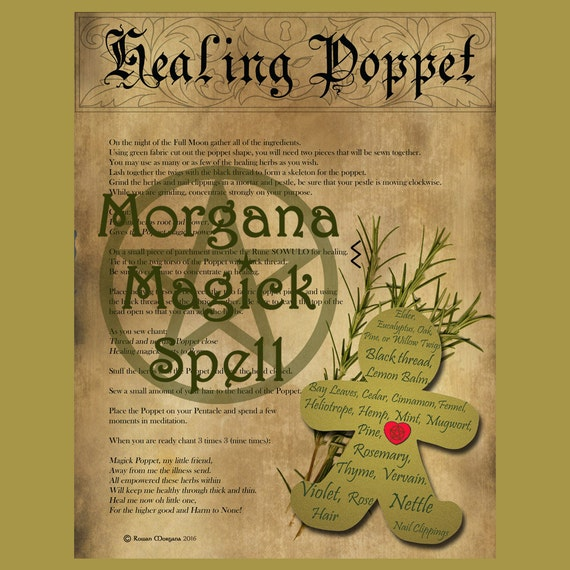 Healing Poppet with Pattern Spell