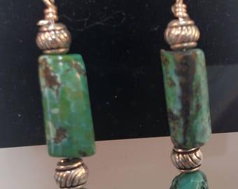 68-Turquoise Earrings