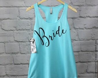 Bride Tank Top. Bridal Shower Gift. Bride Shirt. Bride Tee. Wifey Tank. Bride To Be. Mrs Shirt. Mrs Tee. Gift For Bride. Bachelorette Party