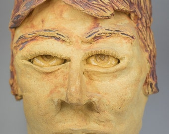 Paul McCartney ceramic sculptural mask