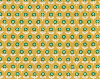 54094- Joel Dewberry Modernist collection Tulip march in honey color - 1/2  yard
