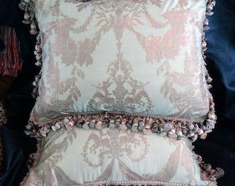 Fortuny Boucher Pillow Pair Handmade 20 x 26 Inches