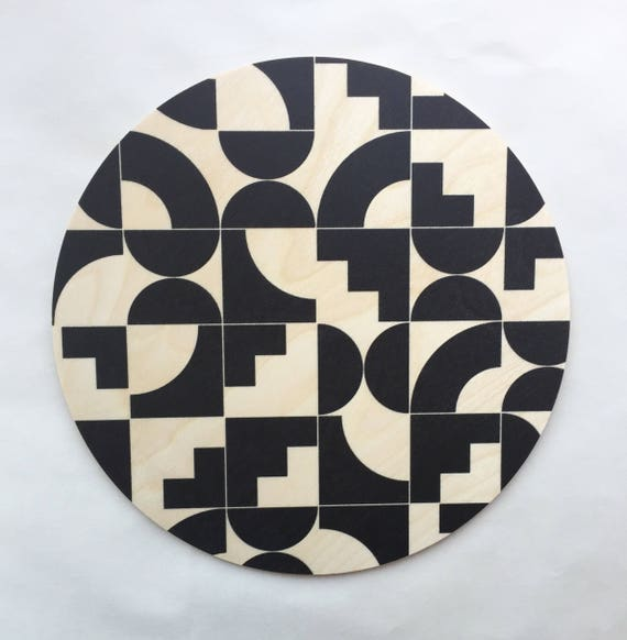 SHAPES Wood Trivet / Giant Coaster