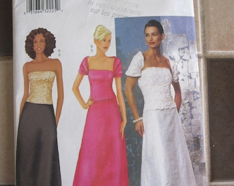 Evan Picone Gown Sewing Pattern Butterick 5875 Evening