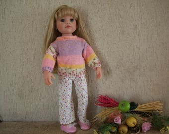 clothes for dolls Hanna Götz (50 cm) pants and sweater (handmade)
