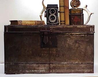 Antique Metal Trunk London