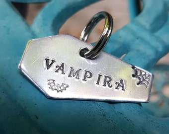Coffin Keychain, Large Coffin pet tag, Goth Anniversary, Anniversary gift, Till death Coffin keychain, dog pet tag, cat pet tag