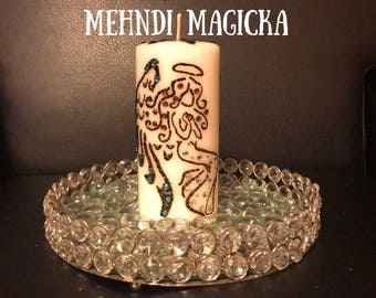 Angel Snowflake Henna Candle