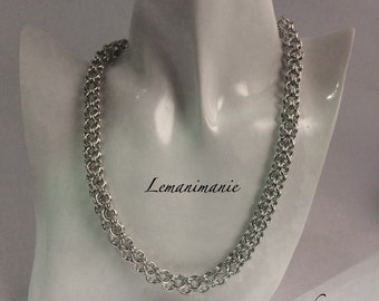 Necklace/Choker chainmail interweaving inverted round