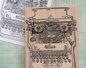 Large Hammond Typewriter Rubber Stamp