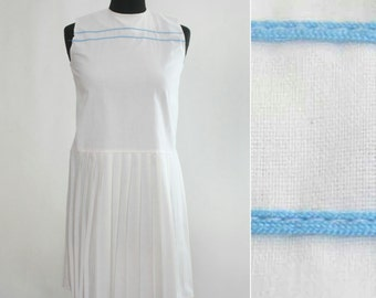1970s Nautical Pleated Tennis Dress (Girl/Petite)