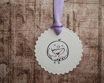 gift tag, hang tag, animal tag, bird tag, label, handmade tags, geschenk label, white tag,all occasion tag, handgemaakte label