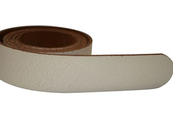 Cream Brown Leather Belt For Men & Women (including Buckle) - Accessories