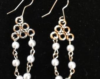 Petite Unique Pearl Earrings