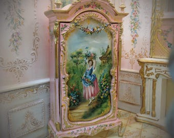 1:12 Hand Painted Furniture cabinet