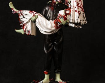 "Zombie  Cake Topper custom  ""Just Buried"""