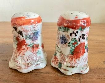 Vintage Japanese Geisha Salt and Pepper Shakers
