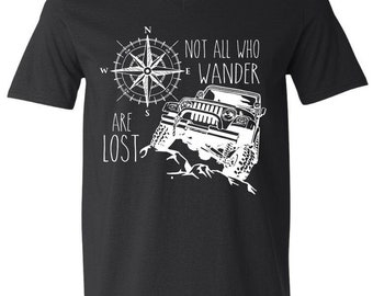 Not all who wander are lost, jeep t shirt
