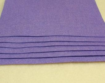 "Pure 100 Percent Wool Felt 8"" x 12"" Sheet, 1 mm thick LAVENDER"