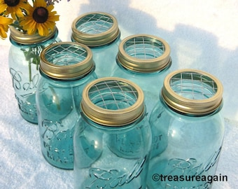 Gold Flower Frog Lids 6 DIY Wedding Mason Jar Flower Frog Lids, Mason Jar Wedding Centerpieces or Floral Arrangement Lids Only, No Jars