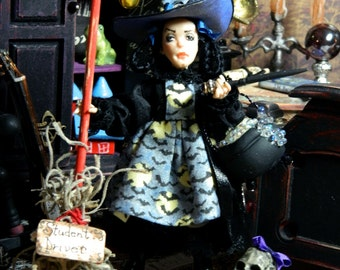 Witch, Miniature, Child, Halloween, Doll, Doll House Doll, Trixie Nightshade